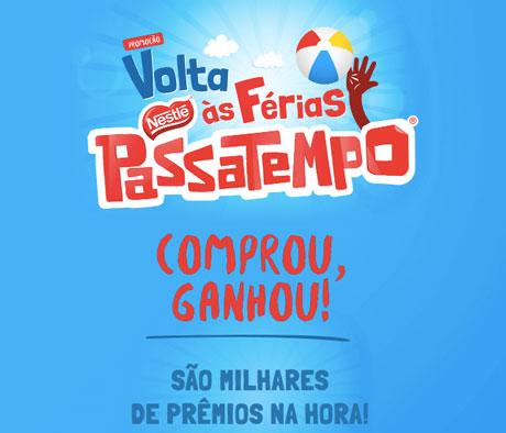 Promoção Nestlé Passatempo Volta Às Férias