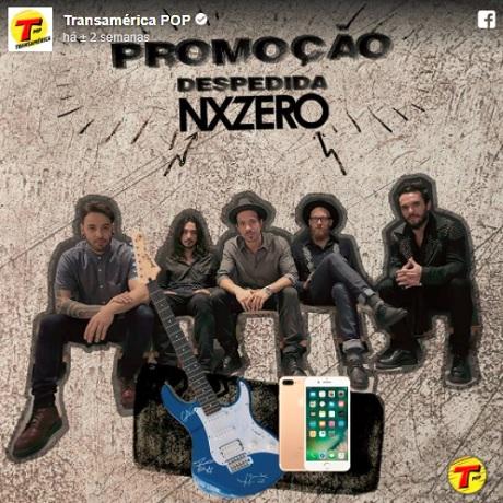 Promoção Despedida Nx Zero