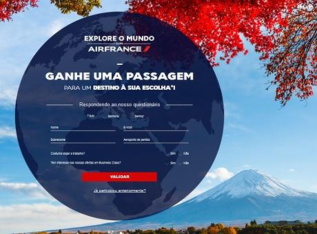 Promoção Air France Explore O Mundo