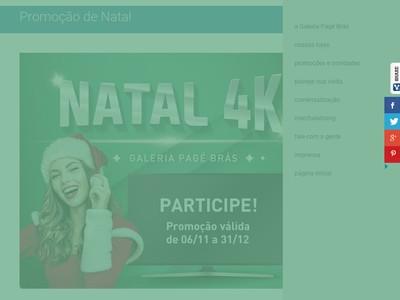 Promoção Natal Premiado Galeria Pagé Brás