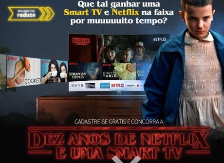 Promoção Dez Anos De Netflix + Smart Tv 40