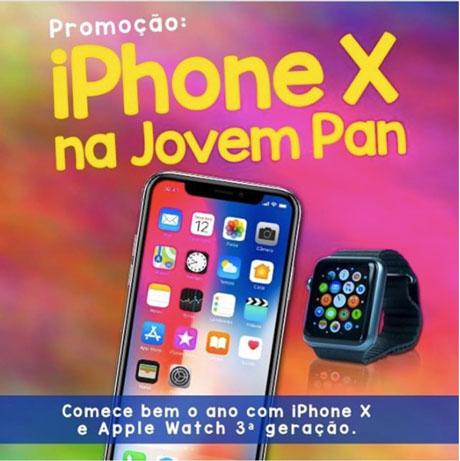 Promoção Iphone X Na Jovem Pan