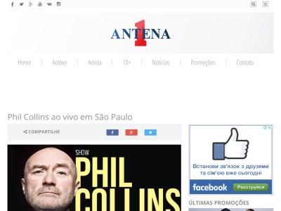 Promoção Phil Collins Ao Vivo Em São Paulo