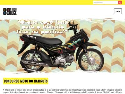 Promoção Rádio 89 Fm Moto Do Natiruts