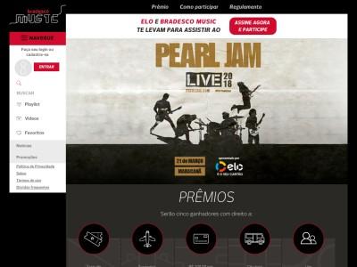 Promoção Bradesco Music E Elo Pearl Jam No Rio De Janeiro