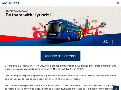 Promoção Be There With Hyundai