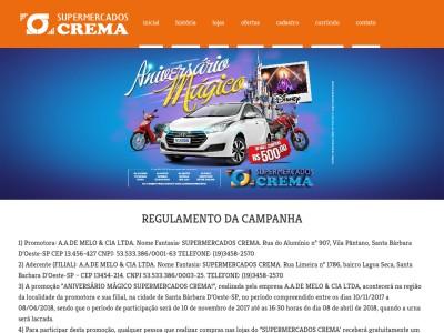 Promoção Aniversário Mágico Supermercados Crema