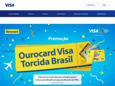 Promoção Ourocard Visa Torcida Brasil