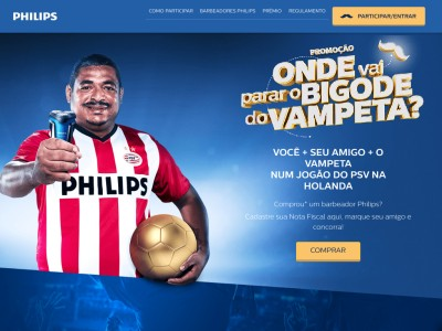 Promoção Philips Onde Vai Parar O Bigode Do Vampeta