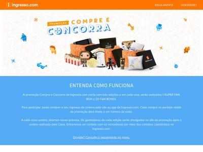 Promoção Compre E Concorra Ingresso.com