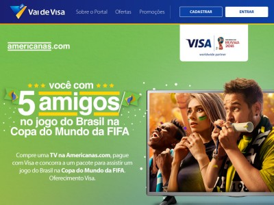 Promoção Visa E Americanas.com Você Com 5 Amigos Na Copa Do Mundo Da Fifa