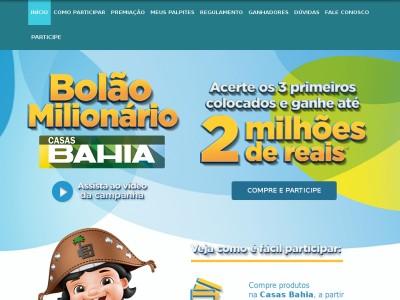 Promoção Casas Bahia Bolão Milionário