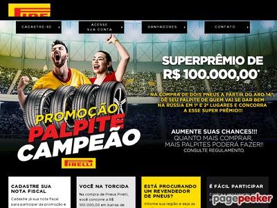 Promoção Pirelli Palpite Campeão