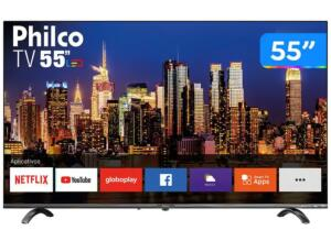 "Smart Tv 4k Uhd D-led 55"" Philco Ptv55q20snbl -  R$1.989"