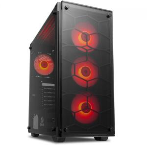 Gabinete Gamer Redragon Wheel Jack, Mid Tower, Com 4 Fans Red | R$ 353