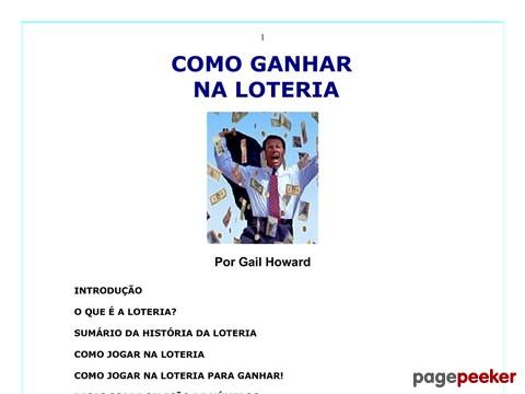 E-book Como Ganhar Na Loteria