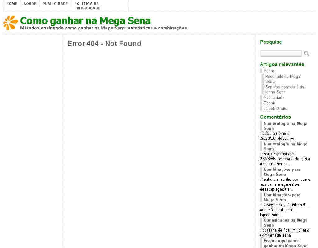 E-book Como Criar Combinações Para A Megasena