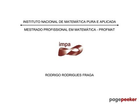 Dissertação Do Instituto Nacional De Matemática Pura E Aplicada Sobre O Estudo Das Loterias