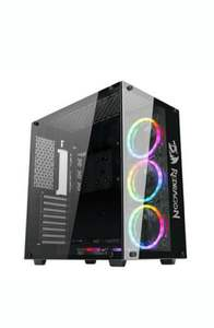 Gabinete Gamer Redragon Wideload, Mid Tower, Lateral E Frontal Em Vidro - Gc-802-1